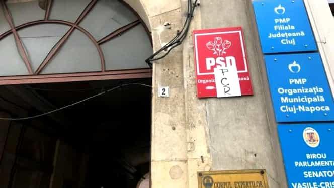 Sediul PSD din Cluj-Napoca, atacat cu sticle incendiare!