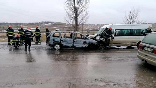 Accident cu 11 răniți la Botoșani. Una dintre victime este în stare foarte gravă