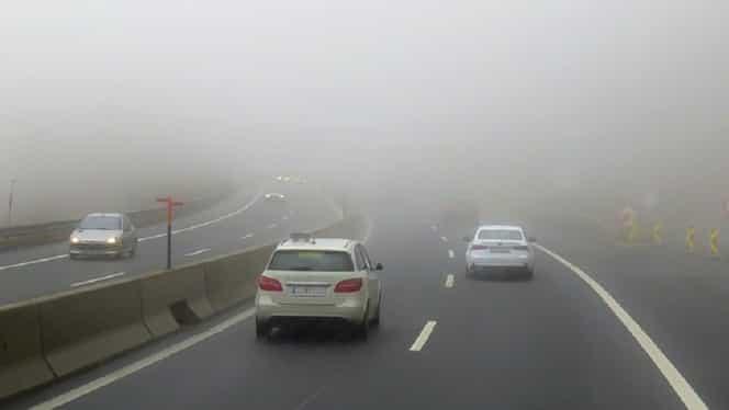 AVERTIZARE ANM: Cod galben de ceață! Care sunt județele afectate