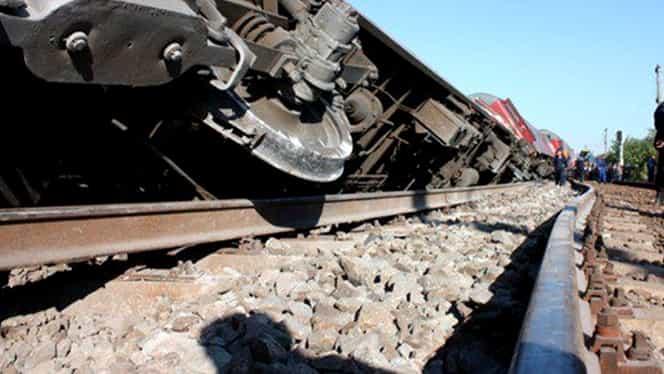 Tren deraiat în judeţul Călăraşi! Traficul feroviar este blocat pe ruta Călăraşi – Ciulniţa