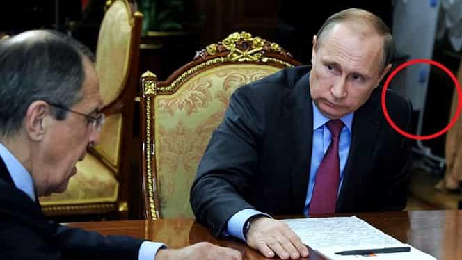 Detaliul incredibil surprins în biroul lui Putin. Kremlinul neagă vehement