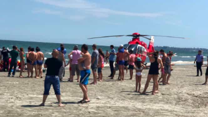 Alertă în Saturn! Au intervenit salvamarii și echipajul SMURD cu un elicopter. Ce s-a întâmplat pe plajă