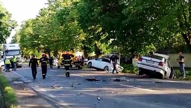 Accident înfiorător cu șase victime în județul Galați! Un adolescent a ajuns în stare critică la spital