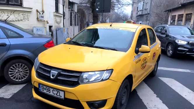 Semne obscene făcute de un taximetrist către un bucureștean care i-a reproșat că a parcat pe trecerea de pietoni. Polițiștii nici nu au băgat în seama incidentul. Video