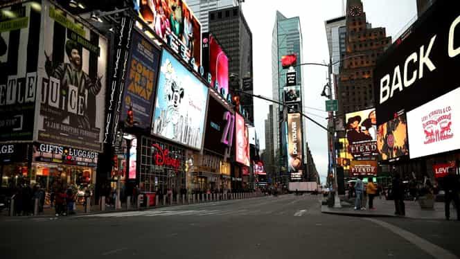 """New York în vremea coronavirusului. """"Orașul care nu doarme"""" s-a transformat într-un loc pustiu. Galerie foto"""