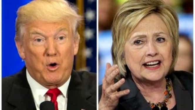 ALEGERI SUA 2016: Clinton îşi extinde avansul la 13% în faţa lui Trump