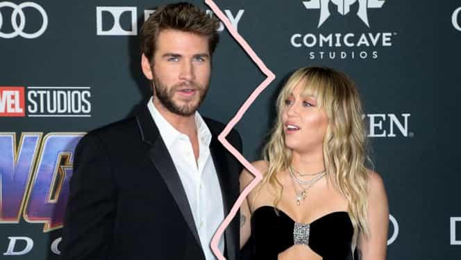 Miley Cyrus și Liam Hemsworth divorțează! De ce pun capăt relației la doar opt luni de la nuntă