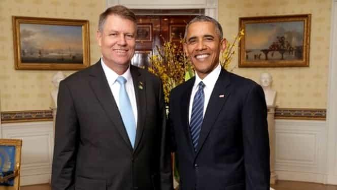 FOTO. Klaus Iohannis s-a întîlnit cu Barack Obama la Casa Albă