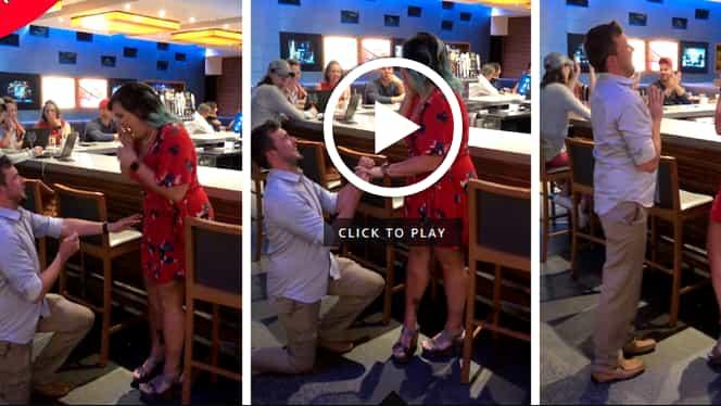 Un cuplu a pus în scenă o cerere în căsătorie falsă pentru a primi băutură gratis! Ce s-a întâmplat a 3-a oară