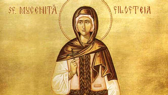 Calendar ortodox 7 decembrie: Sfanta Muceniță Filofteia