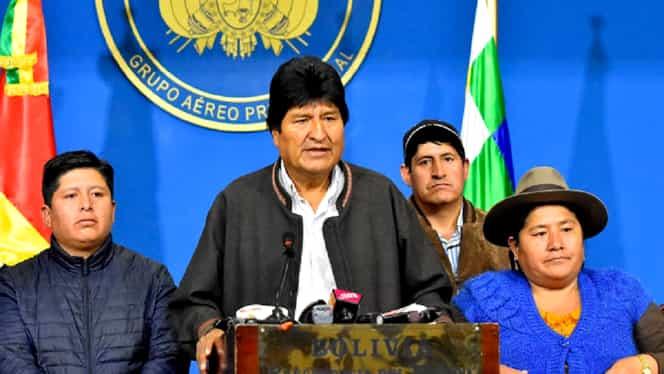 Evo Morales și-a dat demisia. Președintele Boliviei spune că în țară a avut loc o lovitură de stat