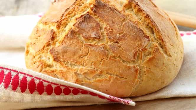Pâine de casă după rețeta bunicii. Nu-ți trebuie țest ca să iasă bună!