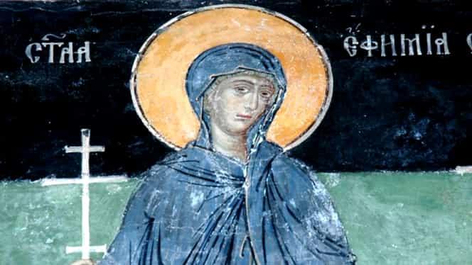 Calendar Ortodox 16 septembrie: pomenirea sfintei mucenițe Eufimia din Calcedonia