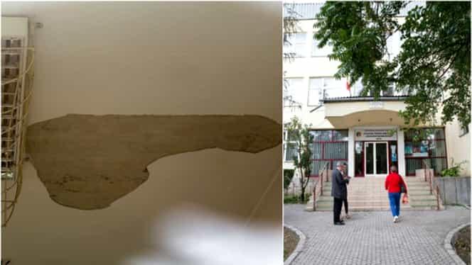 O profesoară din Deva a ajuns la spital, după ce i-a căzut tavanul clasei în cap