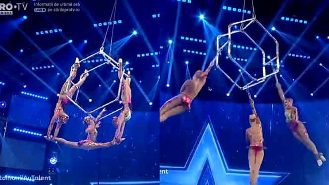Românii au talent: Rusoaicele de la Air Trio Hexagon, moment desprins din orice poate fi real – Video