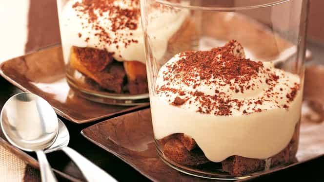Rețeta Zilei de 31 octombrie! Tiramisu cu ricotta și iaurt