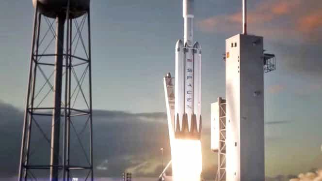 SpaceX lansează cea mai puternică rachetă din lume! Elon Musk îşi trimite autoturismul Tesla în spaţiu!