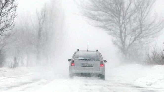Avertizare ANM de vreme severă imediată: Viscol în mai multe regiuni din țară