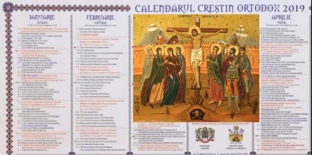 Calendarul ortodox de pe 12 ianuarie 2019