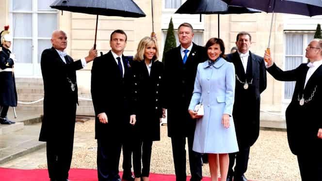 Klaus și Carmen Iohannis s-au fotografiat alături de Emmanuel și Brigitte Macron