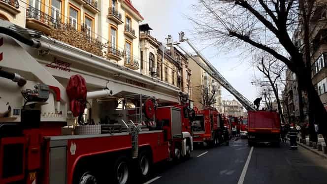 Incendiu puternic, în zona Kogălniceanu din Capitală! O persoană a murit! FOTO și VIDEO