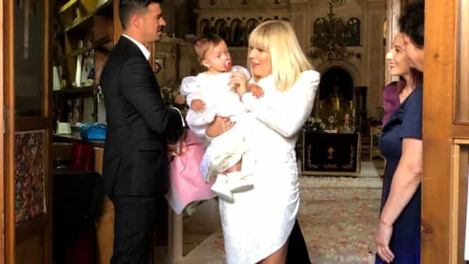 Soacra Elenei Udrea a lipsit de la botezul micuței Eva Maria. Mama lui Adrian Alexandrov lucrează în Italia
