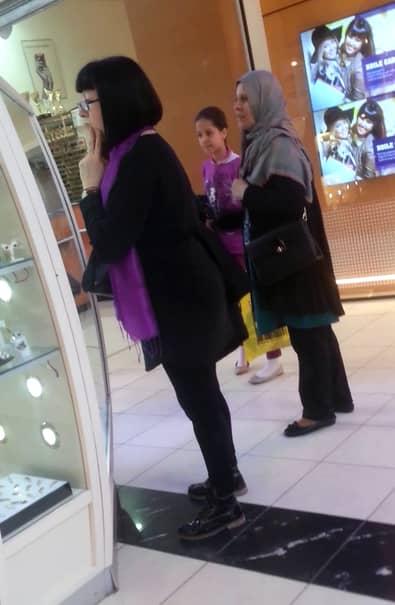 Neti Sandu la mall