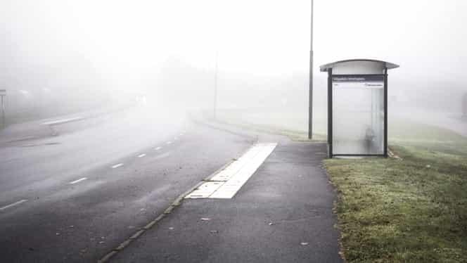 ALERTĂ! Cod galben de ceață. 17 județe se află sub avertisment