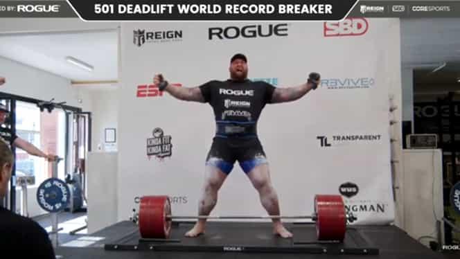 Hafthor Bjornsson a doborât recordul mondial la ridicat greutăți! Starul din Game of Thrones a reușit să ridice 501 kg VIDEO
