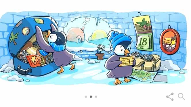 Google contorizează zilele până la Crăciun printr-un Doodle haios!
