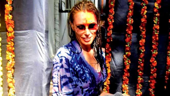 Cum a fost fotografiată Iulia Vântur la festivalul culorilor de la Bolywood. FOTO