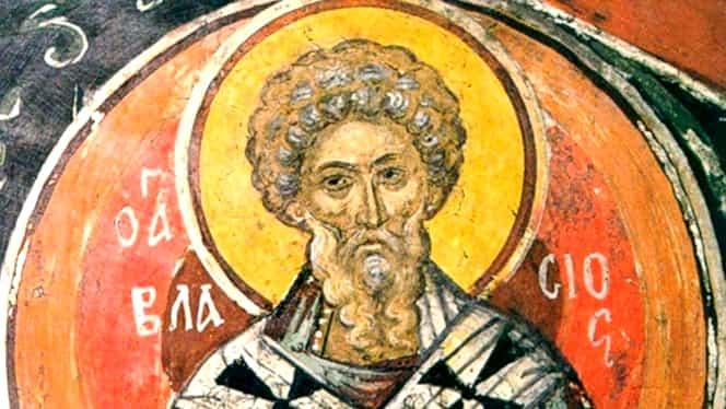 Calendar ortodox 11 februarie: pomenirea sfântului sfinţitului mucenic Vlasie, episcopul Sevastiei