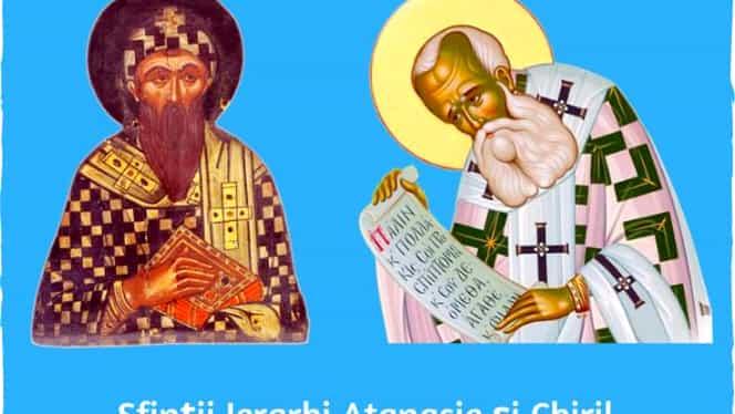 Calendar ortodox: sâmbătă, 18 ianuarie 2020. Sunt cinstiți Sfinții Atanasie și Chiril al Alexandriei