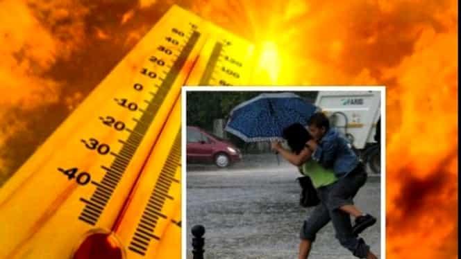 Prognoza meteo pentru vineri 24 august. Vreme instabilă. Temperaturi ridicate, dar și furtuni cu fulgere