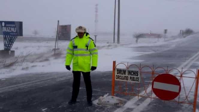 INFOTRAFIC: Starea drumurilor pe 11 ianuarie, artere închise din cauza ninsorii
