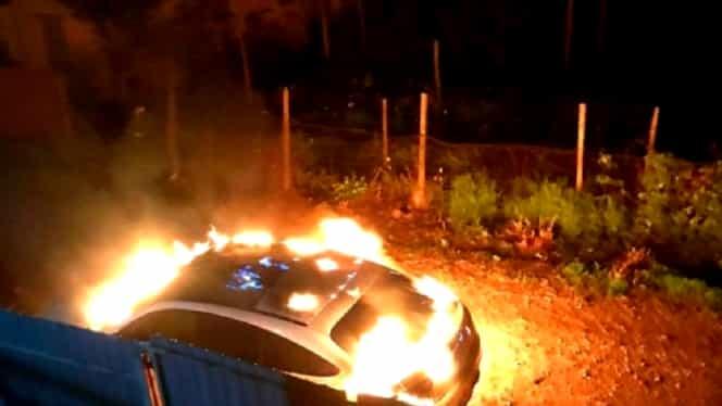 Bolidul de lux al Loredanei Chivu, incendiat de o femeie care o bănuia că este amanta soțului său! Mesajul transmis de blondină la scurt timp după incident