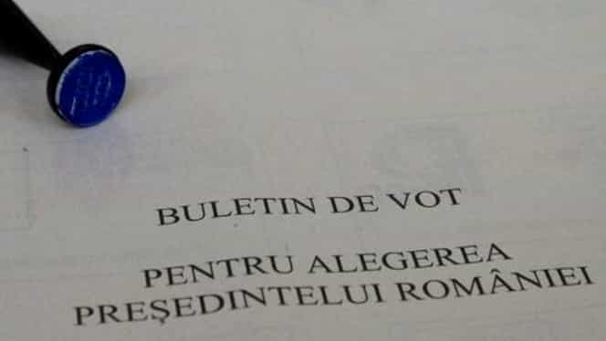 Cum arată buletinul de vot la Alegerile Prezidenţiale. FOTO