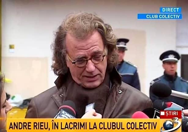 UPDATE / FOTO. Andre Rieu, în lacrimi la clubul Colectiv