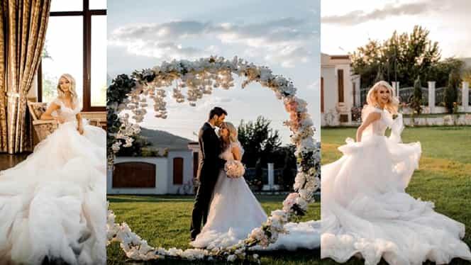 Primele imagini de la nunta Andreei Bălan. Tot azi, artista își botează și fetița cea mică