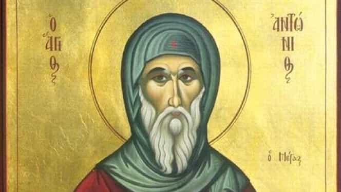 Calendar ortodox pentru vineri, 17 ianuarie 2020. Biserica Ortodoxă îl pomenește pe Sfântul Antonie cel Mare