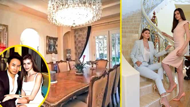 Imagini cu vila de 7 milioane de dolari a lui Mr. Pink! Aici se răsfață Monica și Ramona Gabor, în Malibu
