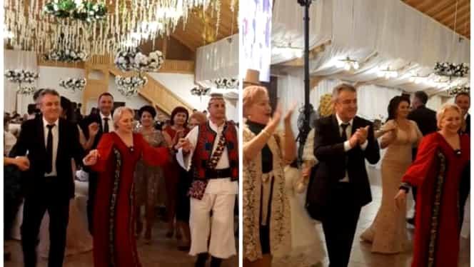 Viorica Dăncilă, ţinută inedită la o nuntă. Liderul PSD s-a distrat alături de Olguţa Vasilescu. FOTO