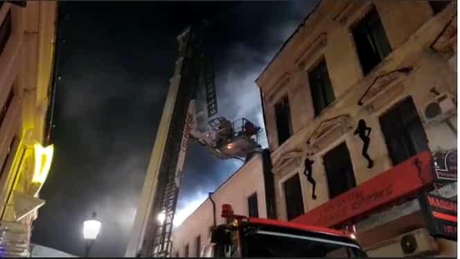 Incendiu, în centrul Capitalei! Ce a declarat prefectul Bucureștiului după incident