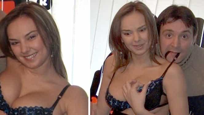 Daniel Buzdugan, fotografiat în timp ce o dezbrăca pe Roxana Ionescu şi o trăgea cu dinţii de…