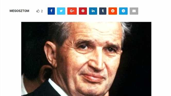 Ungurii au pomenit recent numele lui Nicolae Ceaușescu într-un scandal uriaș la Budapesta