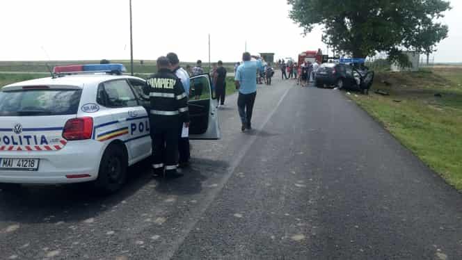 Accident înfiorător la Brăila! Un autobuz cu 30 de călători a fost lovit de o platformă auto!