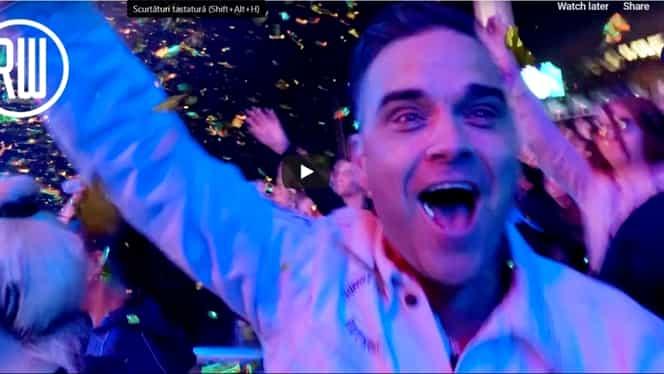 Imaginile nedifuzate până acum cu Robbie Williams la Cluj! VIDEO. Ce a spus artistul după concertul de la Untold