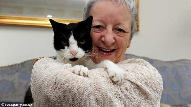 Pisica era dubios de afectuoasă cu ea şi o tot lovea cu lăbuţele. Medicii au spus că i-a salvat viaţa!