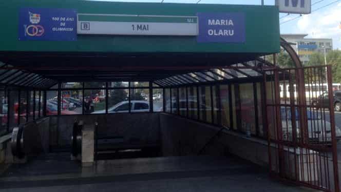 Incident la stația de metrou 1 Mai din București: Un pasager a fost strivit și târât de tren