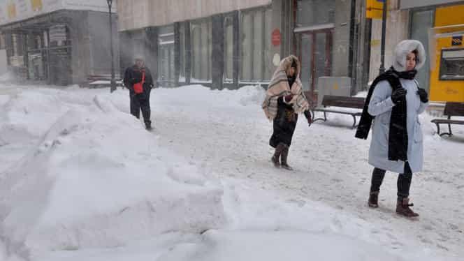 ALERTĂ! Cod portocaliu de zăpadă și viscol în România. Avertisment ferm de la ANM